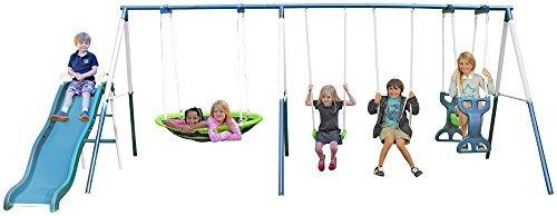 sportspower rosemead metal swing set