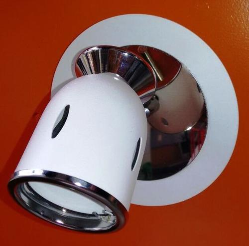 spot 1 luz en blanco o negro para dicro led 220v 7w