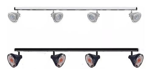 spot aplique cabezal movil para riel bandeja ar111 + zocalo