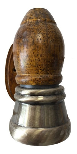 spot base madera con metal bronce antiguo e14