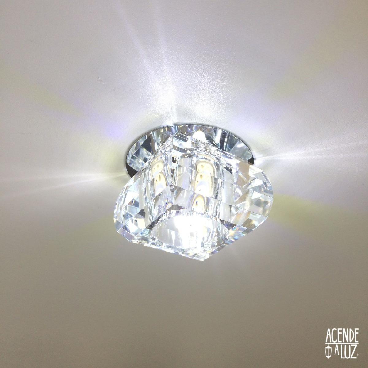 Spot Cristal Embutir 8cm Gesso Quarto Sala Banheiro Ac661 R 73 00