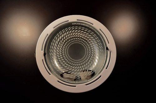spot de embutir blanco para 2 lamparas con rosca e27
