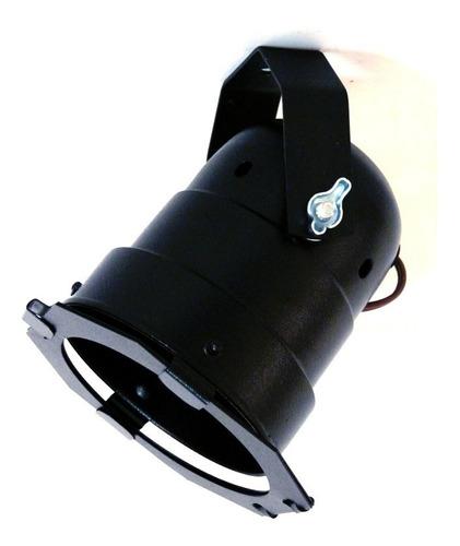 spot de sobrepor cênico par 30 - preto e-27 c/ porta filtro