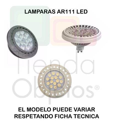 spot embutir ar111 blanco lampara led 11w 12w gu10 220v