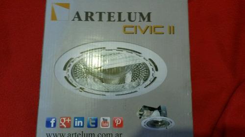 spot embutir artelum x 2 lamparas e 27