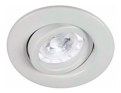 spot embutir blanco dicroica led 5w foco 220v gu10 gtia