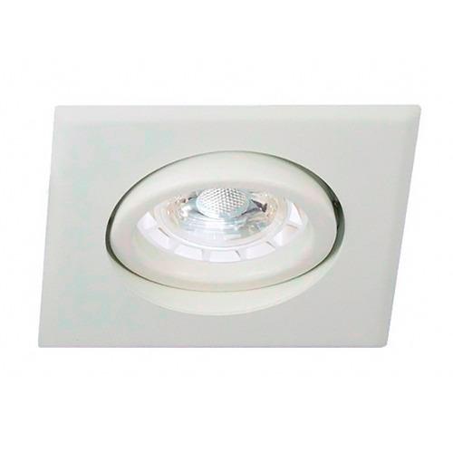 spot embutir cuadrado led lamparas dicroicas cob 7w gu10 220