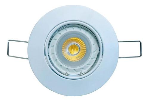 spot embutir dicroica fundicion aluminio ronda 18505  blanco