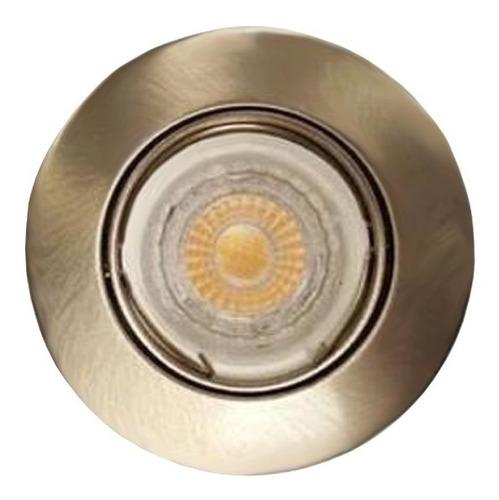 spot embutir dicroica fundicion aluminio ronda 18505 platil