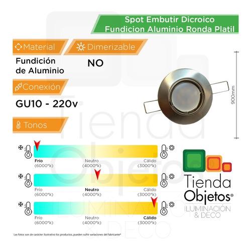 spot embutir dicroico fundicion aluminio ronda led 7w 18505a
