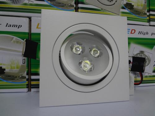 spot embutir led 3w quadrado branco bivolt branco frio