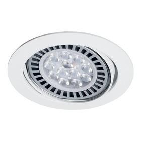 Spot Embutir Móvil P/lámpara Ar111 Blanco Con Zócalo