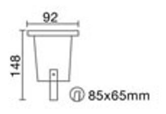 spot embutir piso gu10 con lampara dicroica led gu10 7w marca: candil incluida. iluminacion deck luces jardin exterior