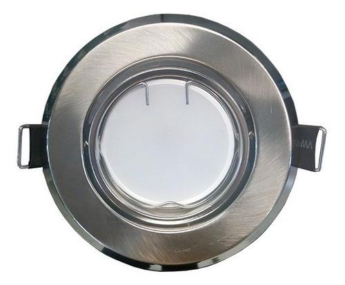 spot embutir redondo platil con lampara dicroica led 7w 220v