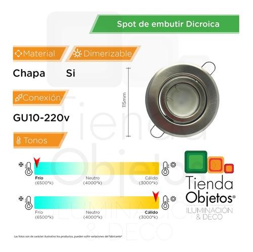 spot embutir redondo platil led 7w gu10 220v dimerizable