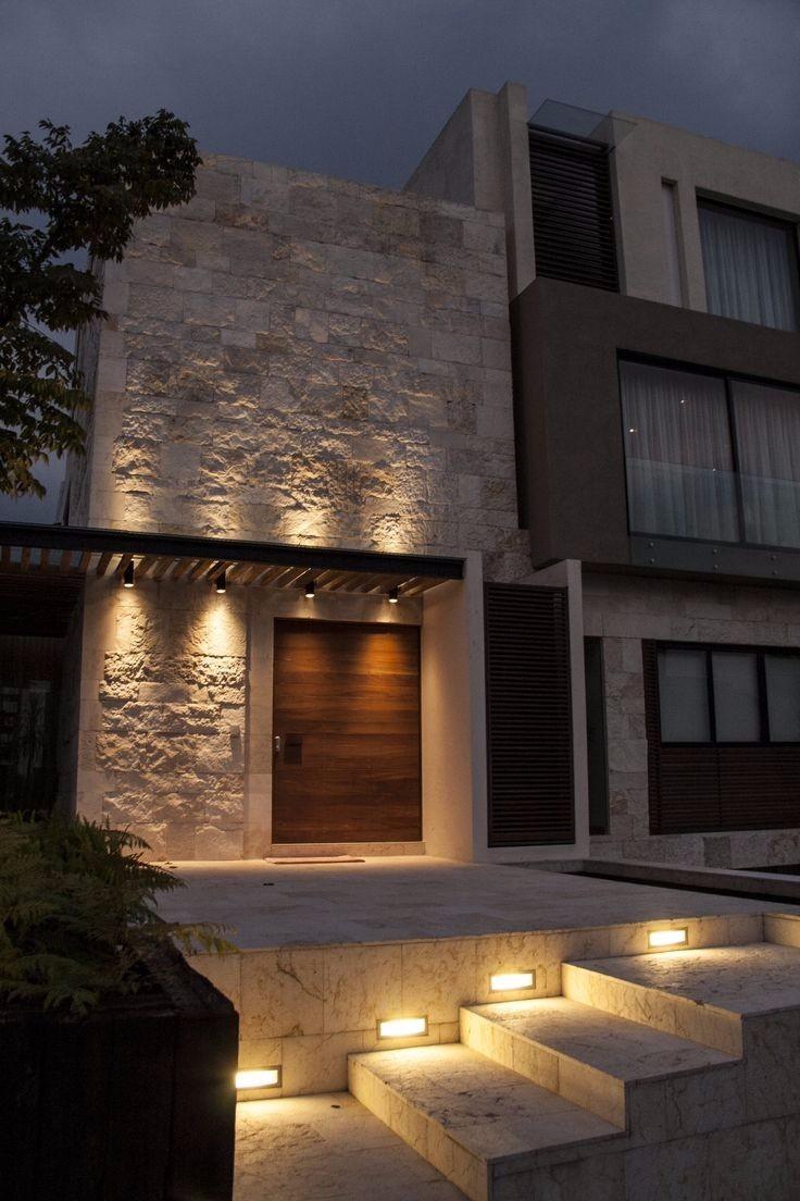Spot exterior de aluminio bidireccional tubular jard n for Piedras para fachadas minimalistas
