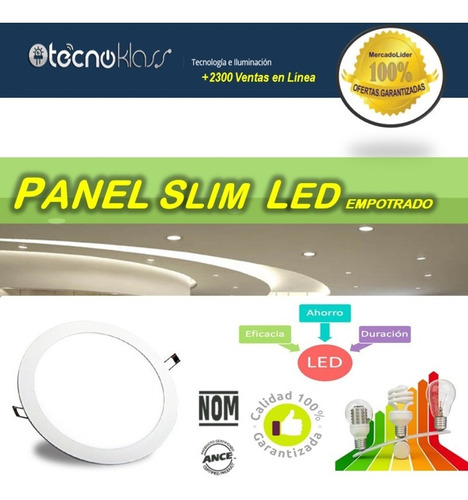 spot led 12w panel de alta calidad y potencia real tipo empotrado luces casas oficina