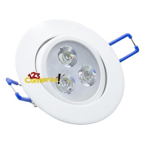 spot led 3w branco frio lâmpada led redondo