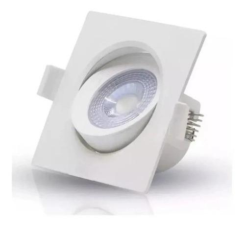 spot led 5w avant quadrado branco frio direcionavel