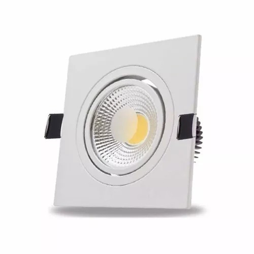 spot led 5w cob quadrado branco quente gesso sanca
