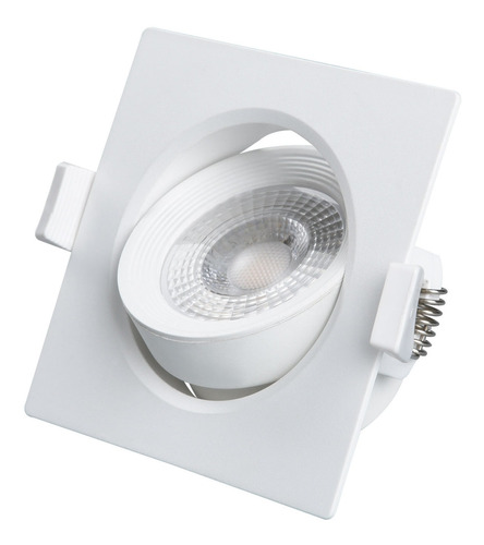 spot led 7w 3000k quadrado - black + decker