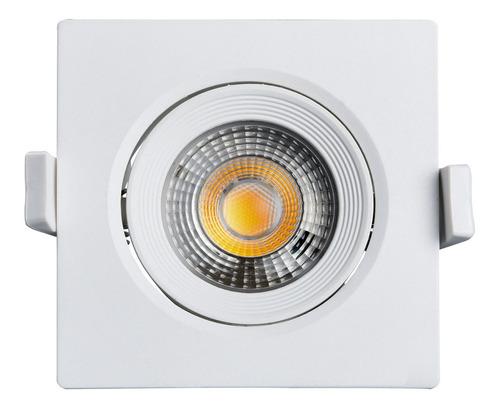 spot led 7w amarela quadrado - black + decker