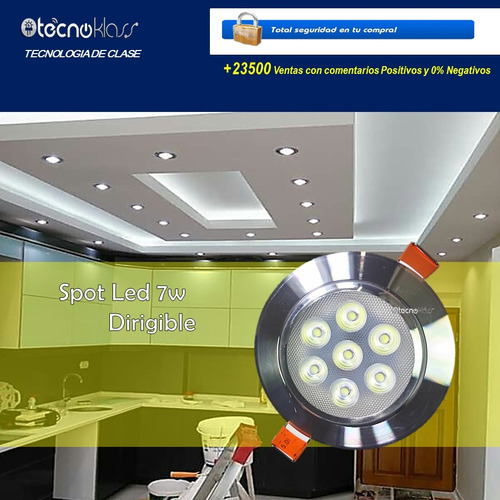 spot led 7w foco dirigible plafon luces casa tipo panel