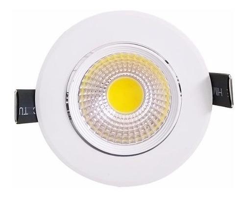 spot led cob 3w dicroica redondo embutir 1 ano garantia