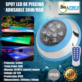Spot Led De Piscina 36w Rgb