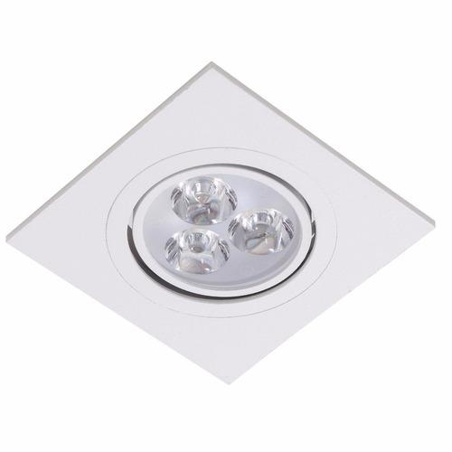spot led embutir 5w quadrado  direcionável forro gesso