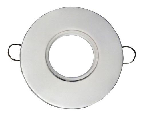 spot led embutir circular plastico pvc blanco + 5w dicroica