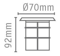 spot led embutir piso cuadrado 0,6w 220v apto intemperie ip54 marca: candil ideal iluminacion deck parques jardin patio