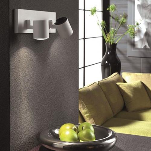 spot philips neiro 2 luces blanco aluminio gu10 apto led