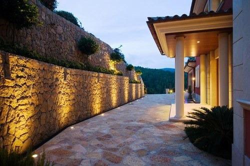 spot piso aluminio gu10 apto led marca candil modelo e2001 para embutir o aplicar al piso ideal deck jardin exteriores