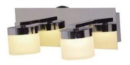 spot plafon 2 luces de pared platil megan candil 8,4w
