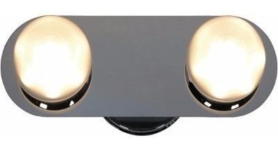 spot plafon 2 luces pared platil bola candil 10w