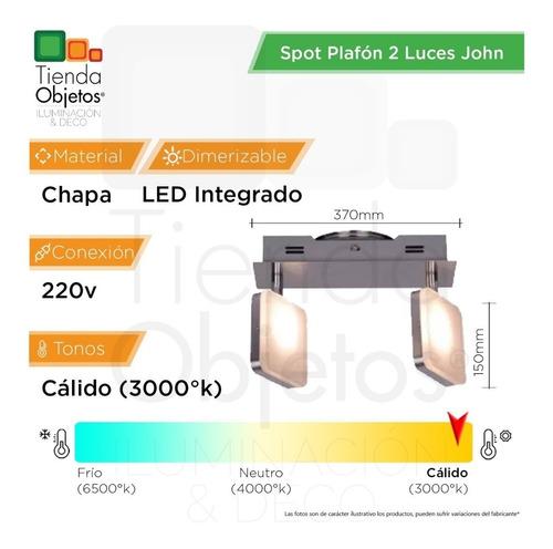 spot plafon 2 luces pared platil john candil 8,4w