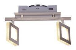 spot plafon moderno 2 luces pared platil mona candil 4,2w