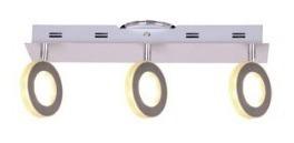 spot plafon moderno 3 luces pared platil roger candil 12,6w