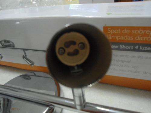 spot se sobrepor para lampada dicróica gu10 sem lampadas