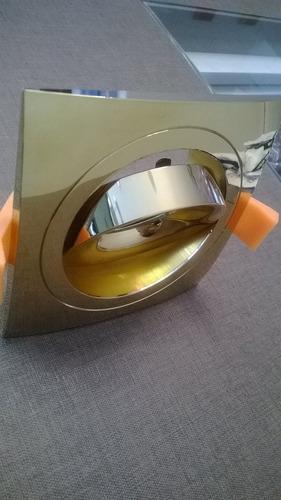 spot semi embutido dourado decorativo direcionavel quadrado