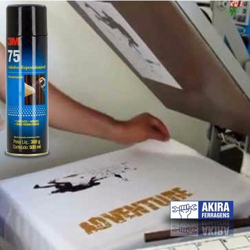 spray 3m 75 reposicionavel sublimação cola adesivo 3 unidade