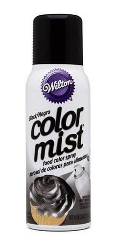 spray aerosol negro wilton original color mist 710-5506