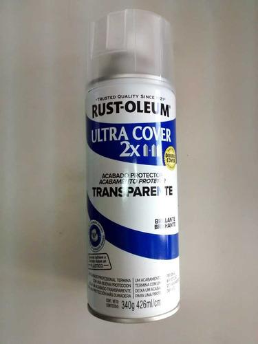 spray aerosol ultracover rust oleum laca transp brillante