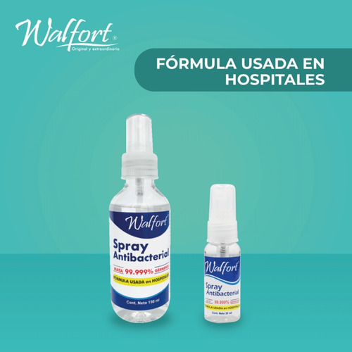 spray antibacterial walfort desinfectante para manos 240ml