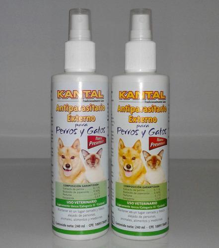 spray antipulgas garrapaticida kantal perros gatos 240ml