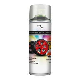 Spray De Tinta Emborrachada Pra Carro Automotivo Preto Fosco