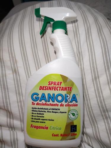 spray desinfectante, contiene 1 litro