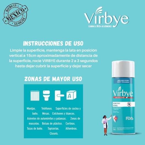 spray desinfectante tipo lysol