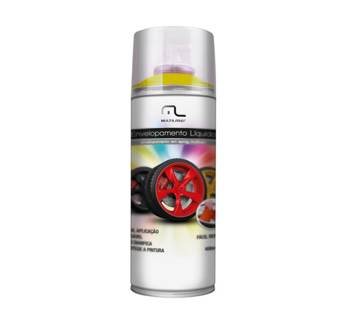 spray envelopamento liquido amarelo fluorescente 400ml multi